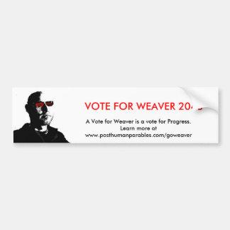 Voto para el tejedor 2048 pegatina para auto