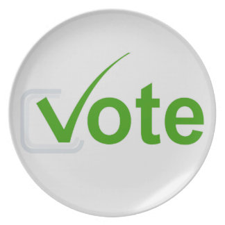 ¡Voto para el verde! Plato Para Fiesta