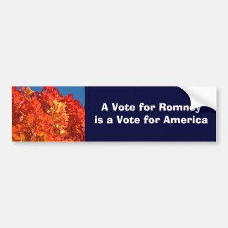 Voto para el voto de Romney para las pegatinas par Etiqueta De Parachoque