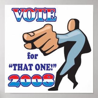 voto para ese un 2008 póster