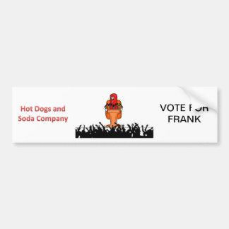 Voto para Frank Pegatina Para Auto