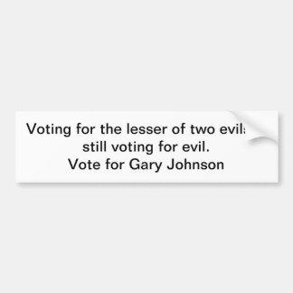 Voto para Gary Johnson Pegatina Para Auto