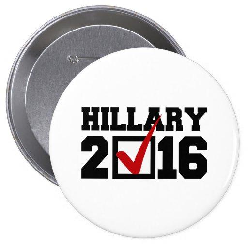 VOTO PARA HILLARY 2016.png Pins