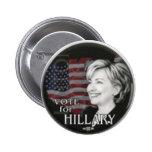 voto para hillary pin
