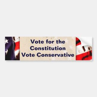 Voto para la constitución etiqueta de parachoque