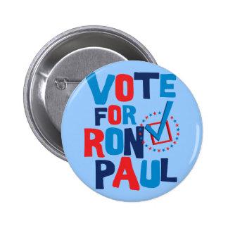 Voto para la elección 2012 de Ron Paul Pin Redondo De 2 Pulgadas