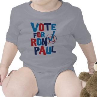 Voto para la elección 2012 de Ron Paul Traje De Bebé