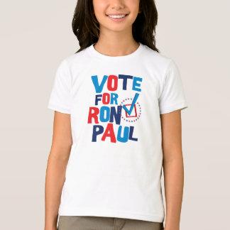 Voto para la elección 2012 de Ron Paul Playera