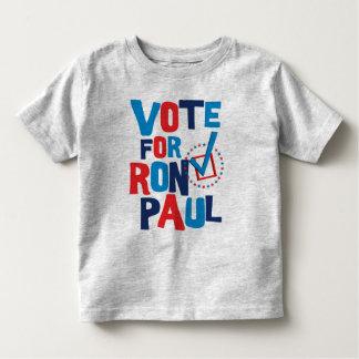 Voto para la elección 2012 de Ron Paul Playera De Bebé