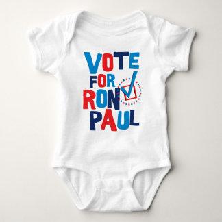 Voto para la elección 2012 de Ron Paul Playeras