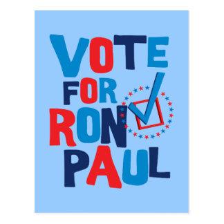 Voto para la elección 2012 de Ron Paul Postal