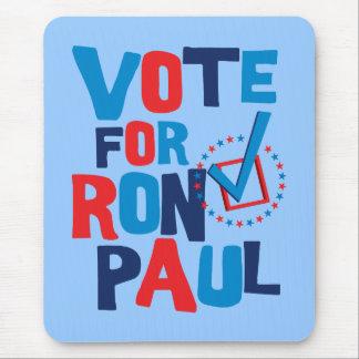 Voto para la elección 2012 de Ron Paul Tapete De Ratones