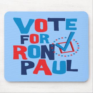 Voto para la elección 2012 de Ron Paul Tapetes De Ratones