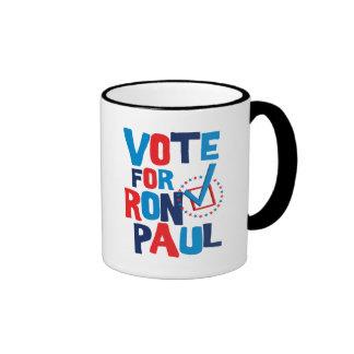 Voto para la elección 2012 de Ron Paul Taza De Dos Colores