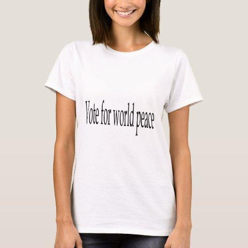 Voto para la paz de mundo playera