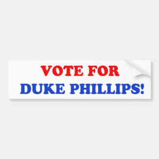 Voto para la pegatina para el parachoques de duque pegatina para auto