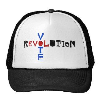 Voto para la revolución gorro de camionero