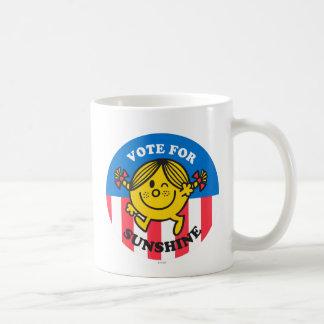 Voto para la sol taza de café