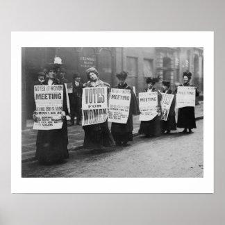 Voto para las mujeres, Londres de los Suffragettes Póster