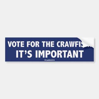 Voto para los cangrejos: ¡Es importante! Stic de Pegatina Para Auto