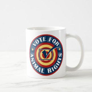 Voto para los derechos de los animales taza de café
