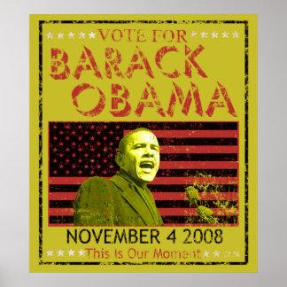 Voto para los posters de Barack Obama
