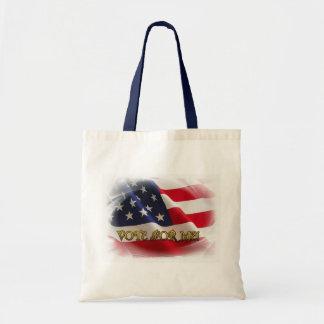 Voto para mí bolsa de mano
