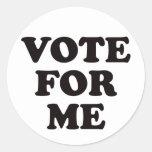 ¡Voto para mí! Etiqueta Redonda
