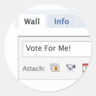 Voto para mí pegatina