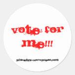 ¡voto para mí!!! Pegatina