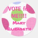 VOTO para MÍ pegatina de la elección
