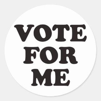 ¡Voto para mí! Pegatina Redonda