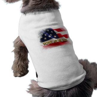 Voto para mí playera sin mangas para perro