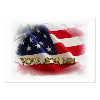 Voto para mí tarjetas de visita grandes
