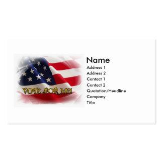 Voto para mí tarjetas de visita