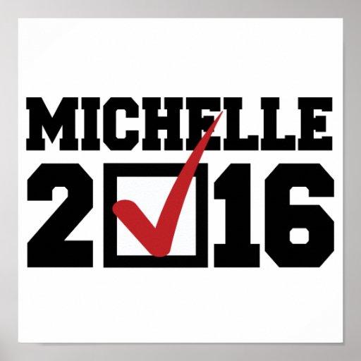 VOTO PARA MICHELLE 2016 - .PNG PÓSTER