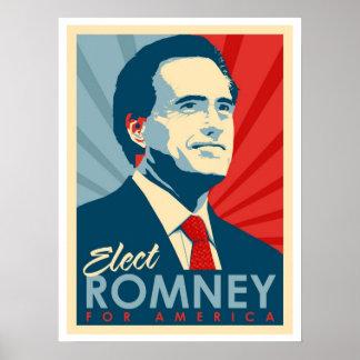 ¡Voto para Mitt Romney - él no es un Commie de Oba Póster