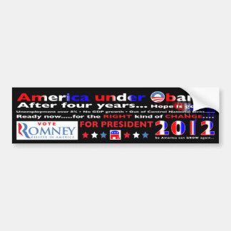 Voto para Mitt Romney para el presidente en 2012 Etiqueta De Parachoque