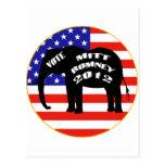 Voto para Mitt Romney Postal