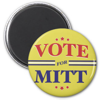 Voto para Mitt Romney redondo (amarillo) Imán Redondo 5 Cm