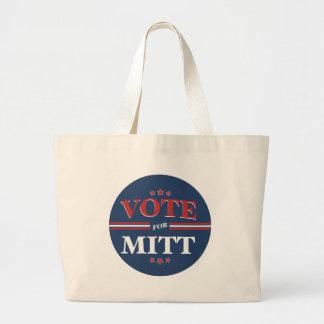 Voto para Mitt Romney redondo azul Bolsa Lienzo