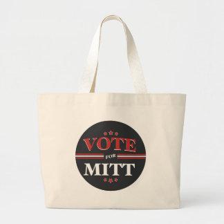 Voto para Mitt Romney redondo negro Bolsa De Mano