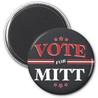 Voto para Mitt Romney redondo (negro) Imán Redondo 5 Cm