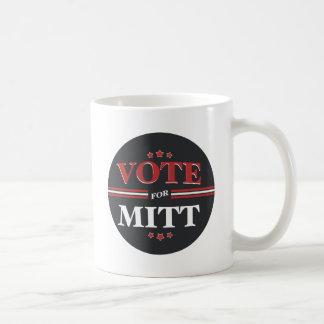 Voto para Mitt Romney redondo (negro) Taza