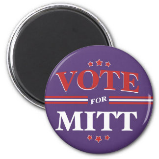 Voto para Mitt Romney redondo (púrpura) Imán Redondo 5 Cm