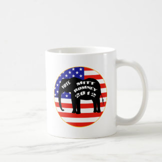 Voto para Mitt Romney Taza De Café