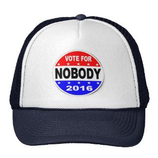 Voto para nadie gorra del camionero