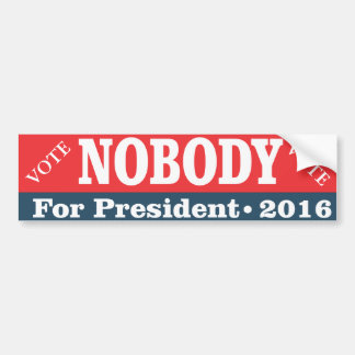Voto para nadie para el presidente pegatina para auto