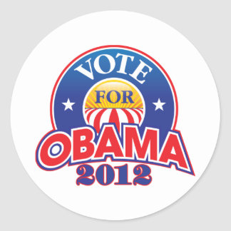 Voto para Obama 2012 Etiquetas Redondas
