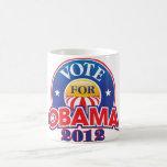Voto para Obama 2012 Taza De Café